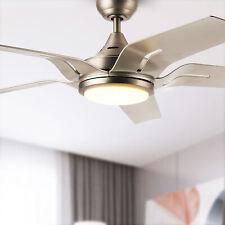 56'' Indoor Ceiling Fan 5 Blades Led Light Remote Control 3 Color Temperature
