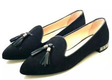*NEW* RUSSELL&BROMLEY Cocktail Crystal Heel Black Suede Flats UK5EUR38 RRP £215