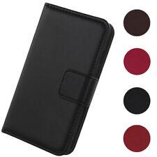 Para Samsung Galaxy De lujo Genuino Real Cuero Abatible Estuche Billetera Cubierta De Piel Libro