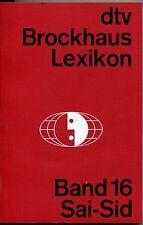 dtv Brockhaus Lexikon Band 16 Sai-Sid