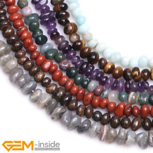 """Natural Stone 8-10x10-12mm Freeform Nugget Loose Beads For Jewellery Making 15"""""""