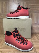 RARE🔥 Native Fitzsimmons Torch Red Ankle Boots Sz 6 Men's - 8 Women's