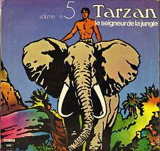 """GERARD CALVI / FRANCOIS RAUBER """"TARZAN"""" VOL. 5 70'S LP PATHE 2C 062-11555"""