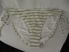 BNWT Ladies Sz 12 Grey/White Stripe Rivers Brand Classic Bikini Swim Pants