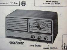 ARVIN 655SWT SHORT WAVE RADIO PHOTOFACT