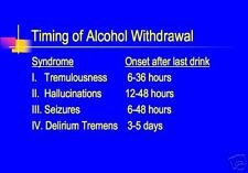 60 page ALCOHOLISM ALCOHOL WITHDRAWAL PowerPoint Presentation on CD