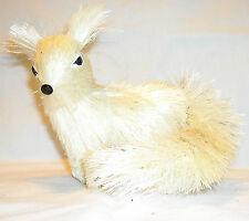 MARTHA STEWART HOLIDAY SISAL  ARCTIC WHITE FOX ORNAMENT - NEW