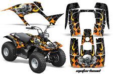 Atv Kit Graphique Quad Autocollant pour Yamaha Breeze 125 89-04 Motohd Blk