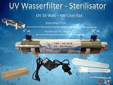 16 Watt UV Wasserfilter UV Lampe Sterilisator Wasserdesinfektion Umkehrosmose