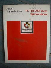 Original 1974 Detroit Diesel Allison Transmissions TT, TTB, 2001 Series Manual