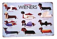 Dachshund Wieners Metal Tin Sign, Funny Sign, Dog Sign,, 8-in by 12-in Sign
