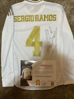 Camiseta Sergio Ramos Real Madrid Firmada COA Jersey Certificado Match Issue