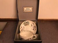 """Royal Worcester """"Very Important Person"""" Lg.  Breakfast Cup & Saucer ~ Fishing"""