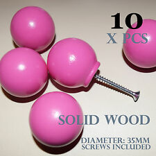 10 Knobs Pink Childrens Furniture Wood Cabinets Drawers Cupboards 35mm Amazoak