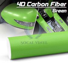 4d Carbon Fiber Semi Glossy Vinyl Sticker Wrap Decal Sheet Bubble Free Film Diy