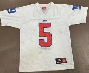 Reebok New York Giants Kerry Collins NFL Jersey Youth Kids  SZ  M 10 / 12 White