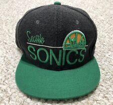 c958691f Size: 7 3/8. SEATTLE SUPERSONICS Basketball NBA Sonics Cap Snapback Hat  100% WOOL