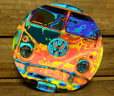 190MM x 5MM MDF CLOCK FACE - PSYCHEDELIC KOMBI