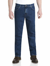 wrangler durable stretch denim jeans regular fit rinsewash darkstone stonewash -
