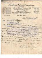 1913 ANTOINE CHIVIS COMPANY { ESSENTIAL OILS } NEW YORK NY LETTERHEAD