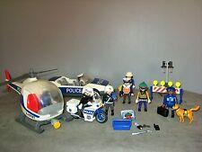 Voiture/Moto/Hélicoptère de Police Policier/Voleur/Chien Playmobil