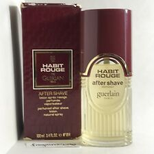 GUERLAIN HABIT ROUGE PERFUMED AFTER SHAVE SPRAY, VINTAGE, 100ML/3.4OZ, RARE