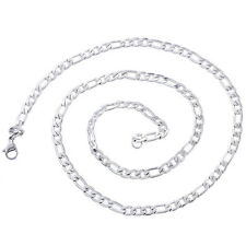 Stainless Steel 4.8mm Men's Silver Figaro Chain Necklace