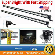 "2X 38"" 108W LED WORK LIGHT FLOOD SPOT COMBO OFFROAD ATV 4WD DRIVING LAMP UTE SUV"