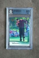2001 Upper Deck Golf Tiger Woods Rookie Card #1 BGS Graded 8.5 NM~MT+