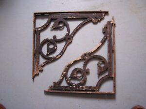 """Antique Cast Iron Sink/ Shelf Brackets-- Exterior Corbels  17 1/2"""" x 15 1/2"""""""