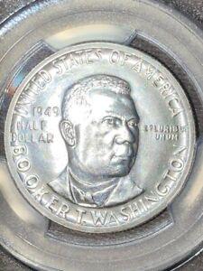 1949 PCGS MS65 Booker T Washington Commemorative Silver Half Dollar VERY FROSTY!
