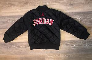 Nike Jordan Jumpman Boys Quilted Black Bomber Jacket Medium (6) Youth