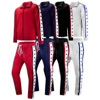 New Men Track Suit Sweat Suit Track Pants Jacket Zipper Stars Print Sizes M-3XL