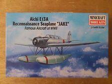 "1:144 Minicraft Nr. 14433 Aichi E13A Reconnaissance Seaplane "" JAKE "".  Bausatz."