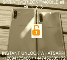 note 10 S10 | N975U N970U G975U Verizon T-Mobile Sprint REMOTE Unlock bit 1-3