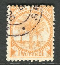 SAMOA; 1886-1900 classic Palm Tree issue fine used 2d. value