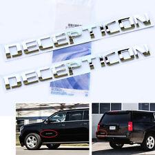 2x Origianl Chrome DECEPTICON EMBLEM Badge Letter 3D for F150 Silverado Tundra L