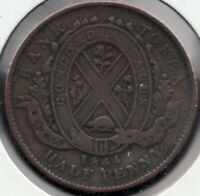 1854 -Prov. of Upper Canada - Bank of Montreal - ½ Penny - Superfleas - PC-184