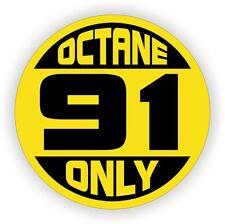 91 OCTANE ONLY Fuel Door Vinyl Sticker | Truck Car Gas Pump Decal | Label SUV