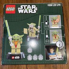 NEW LEGO Star Wars Yoda LED Lite Desk Lamp 2013 NIB Night Light Saber FREE SHIP