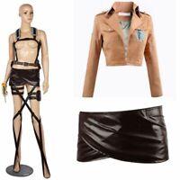 Custom Made Mikasa Ackerman Cosplay Costume Custom Made Full Set Any