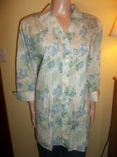 943233df543 WESTBOUND PLUS SIZE WRINKLE FREE 3 4 SLEEVE FLORAL SHIRT PINTUCK SIZE 18 NEW