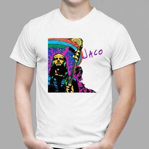 New Jaco Pastorius Jazz Musician Singer Men's White T-Shirt Size S to 3XL