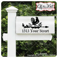 "Includes 2 Farmhouse Styled Weathervane ""ROOSTER"" Mailbox Lettering"