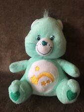 "Care Bear Wish Bear Mint Green 13"" Plush 2003 Shooting Star Stuffed Animal"