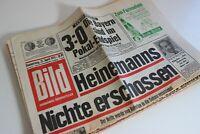 BILDzeitung 25.04.1974 April 25.4.1974 Mönchengladbach Stuttgart  Europapokal
