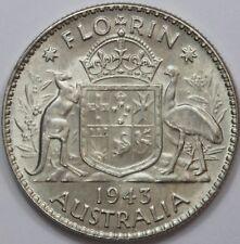 Auctralia George VI 1943 Florin, Uncirculated