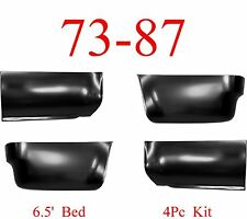 6.5' 73 87 Chevy 4Pc Front & Rear Lower Bed Panel Kit GMC Truck 88 91 Crew Cab
