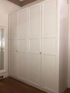 IKEA White Pax Wardrobe