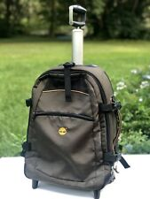 """TIMBERLAND  Rolling Luggage Suitcase / Backpack Carry-On Bag Olive Green 21""""x14"""""""